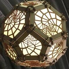 WAS $650 NOW $422.50 - Spiraling Voronoi Platonic Solid- Assembled