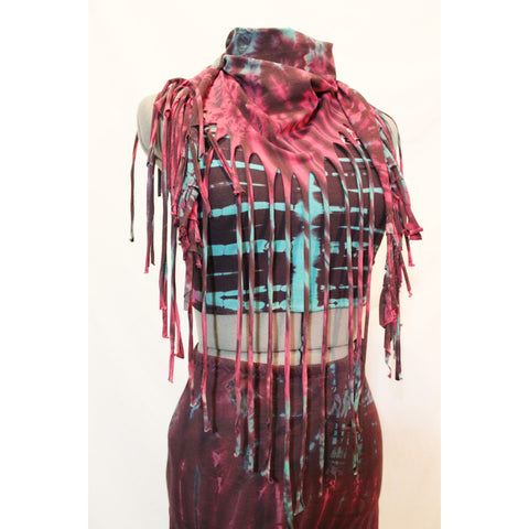 Tie Dyed Fringe Skirt/Scarf by The Fairies Pyjamas - alter8.com