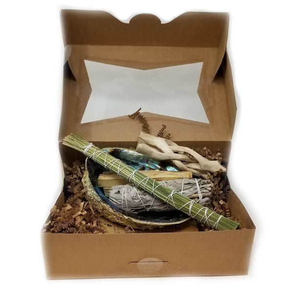 Smudging Bundle with Abalone Shell - alter8.com