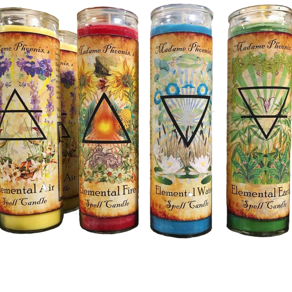 Tall Elemental Candles by Madame Phoenix - alter8.com