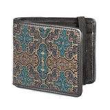 Seed of Life Men's Wallet: Shipibo Kene Print - alter8.com