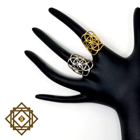 Seed of Life ring by Alula Boutik - alter8.com