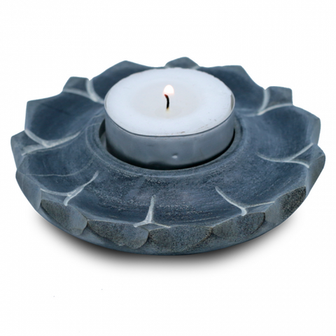 Lotus Candle & Incense Holder Soapstone - alter8.com