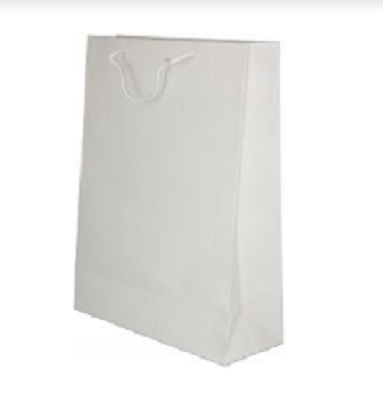 White Party Bags for Giveaways - 12pcs