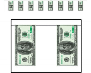 100 Dollar Bills Birthday Party Banner - 1pcs