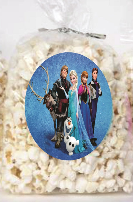 Frozen Clear Party Bags for popcorn, candies or giveaways - 12pcs