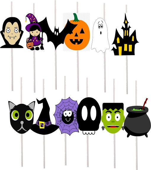 Halloween Cake Pops Toppers - 12 pcs