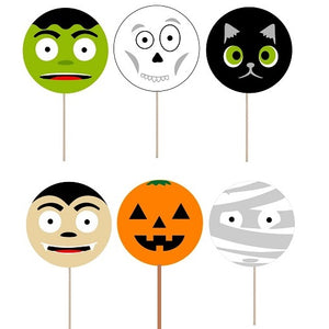Halloween Cupcake toppers and wrappers - 12 pcs or 24 pcs