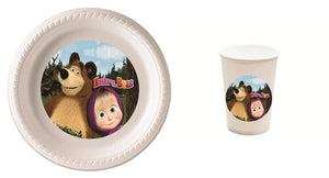 Masha and the Bear Party Plates and Cups