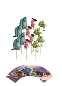 Monsters Inc Cupcake toppers and wrappers - 12 pcs or 24 pcs