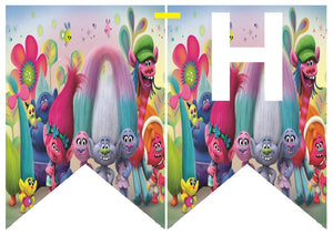 Trolls HAPPY BIRTHDAY Party Banner - 1pcs