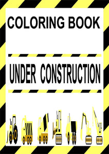 Under Construction Mini Coloring Book