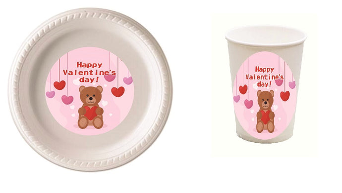 Valentines Party Plates and Cups