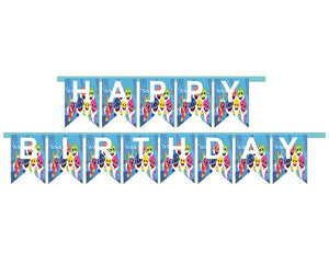 Baby Shark HAPPY BIRTHDAY Party Banner - 1pcs