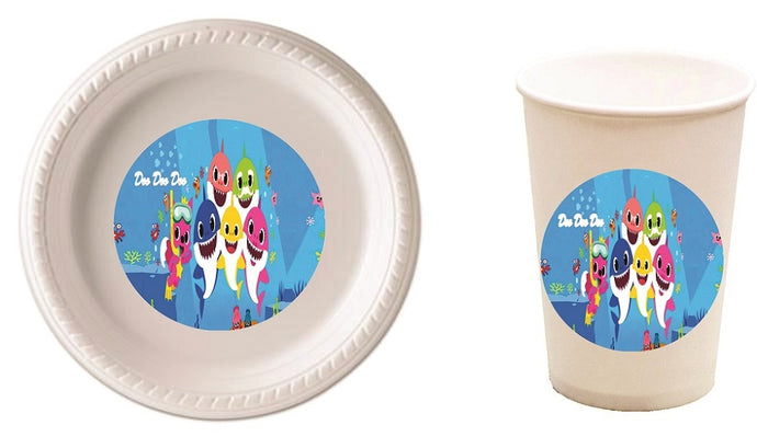 Baby Shark Party Plates and Cups