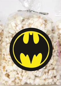 Batman Clear Party Bags for popcorn, candies or giveaways - 12pcs