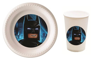 Batman Lego Party Plates and Cups