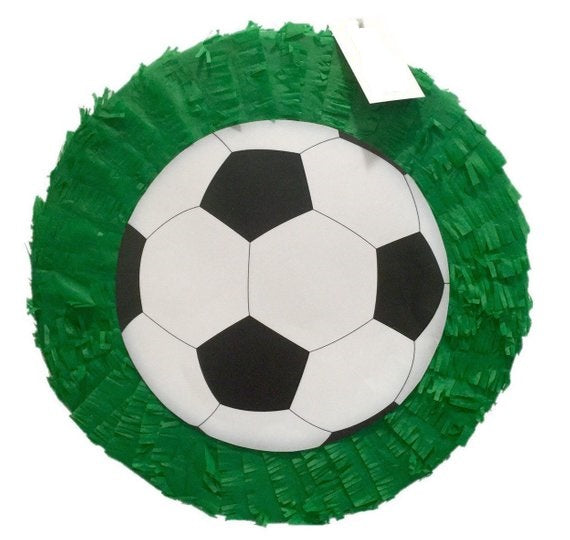 Football Ball Sports Pull Strings Pinata 30cm - 1pcs