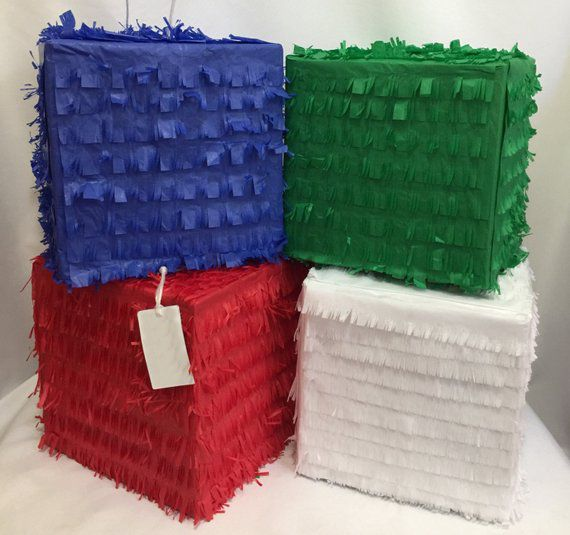 Any Color Box Pull Strings Pinata 30cm - 1pcs