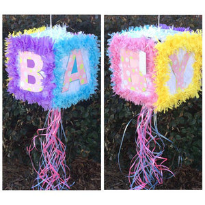 Baby Shower or Gender Reveal Pull Strings Pinata 30cm - 1pcs