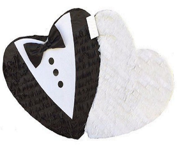 Mr Mrs Engage Wedding Pull Strings Pinata 40cm - 1pcs