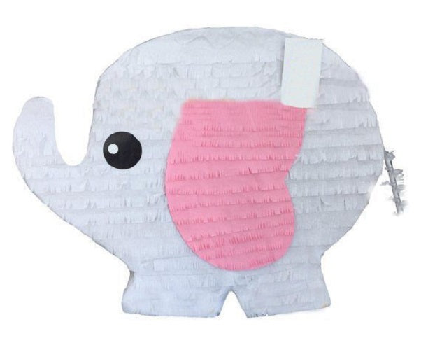 Elephant Pull Strings Pinata 40cm - 1pcs for Baby Shower or Birthday