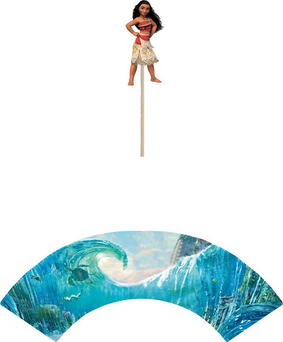 Moana Cupcake toppers and wrappers - 12 pcs or 24 pcs