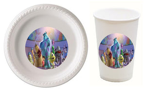 Monsters Inc Party Plates and Cups