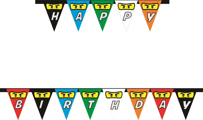 Ninjago Lego HAPPY BIRTHDAY Party Banner - 1pcs