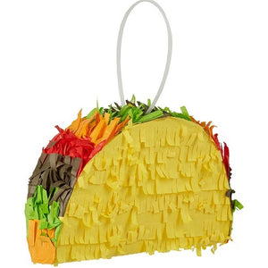 Mexican Taco Pull Strings Pinata 40cm - 1pcs