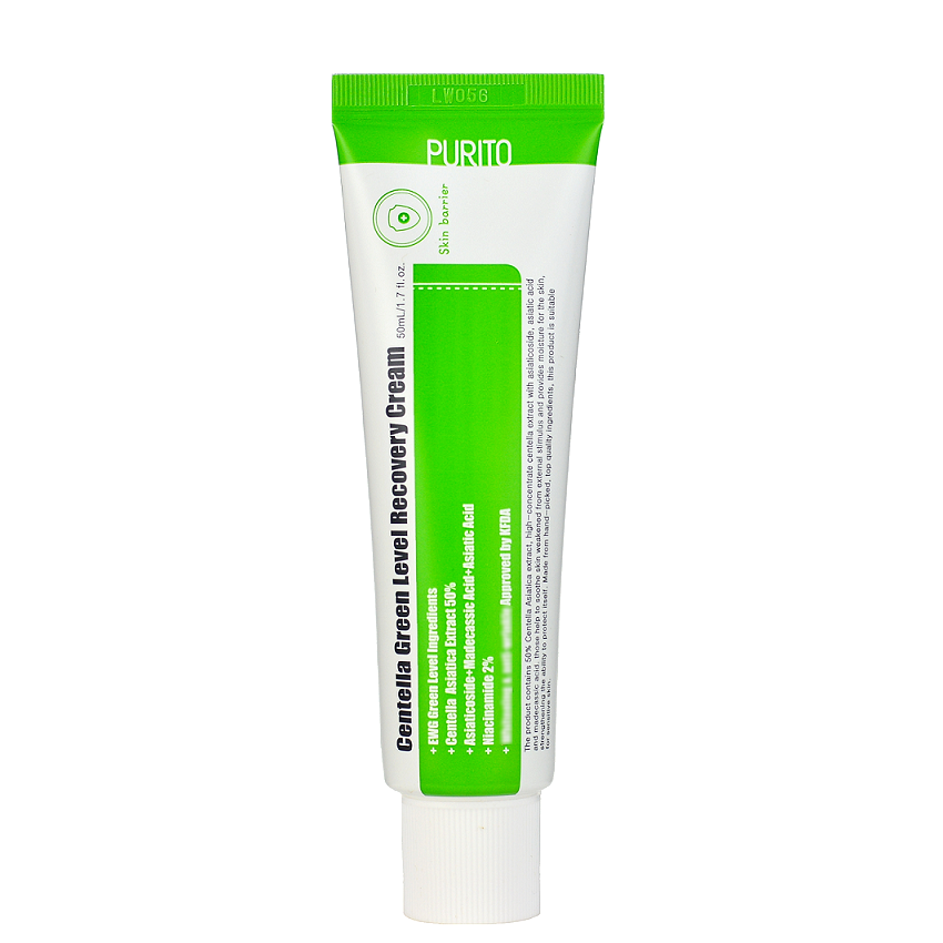 PURITO Centella Green Level Recovery Cream - Κρέμα Επανόρθωσης με Σεντέλα και Υαλουρονικό