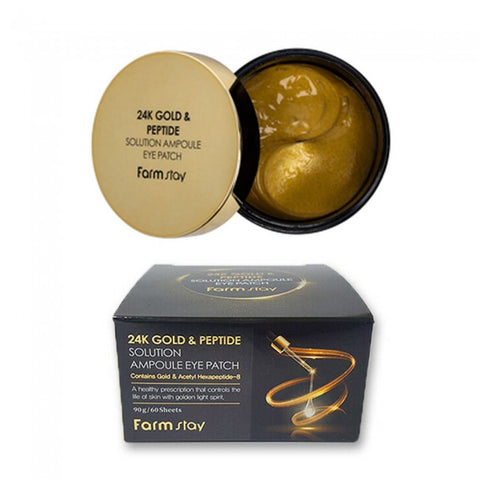 Farm Stay  24K Gold & Peptide Solution Ampoule Eye Patch - nene-boo