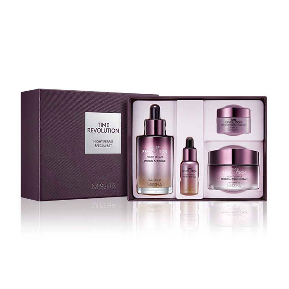 MISSHA Time Revolution Night Repair Probio Special Set - Σετ αντιγήρανσης με τις πολυβραβευμένες αμπούλες Time Revolution Night Repair Probio - neneboo