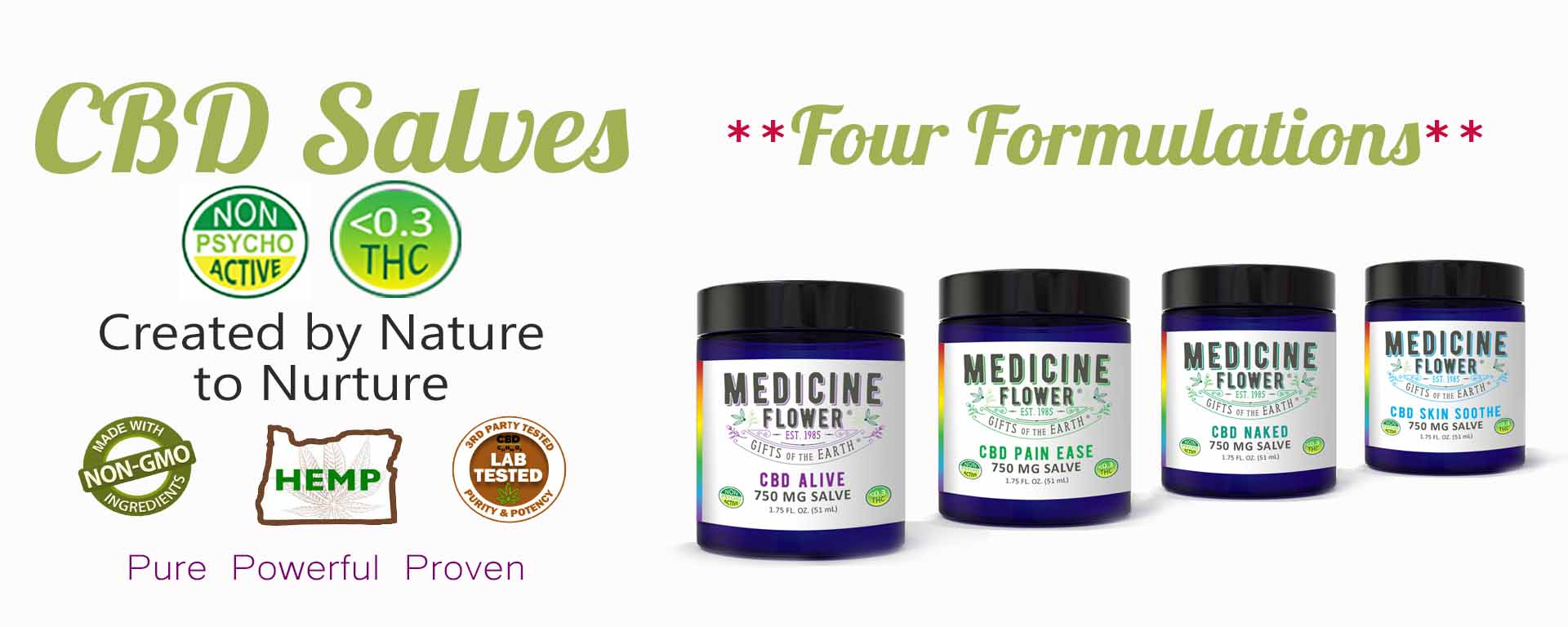 Medidine Flower CBD Salves