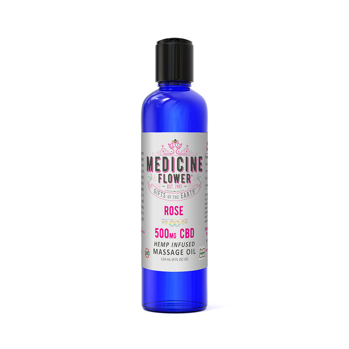 CBD Rose Infused Massage Oil