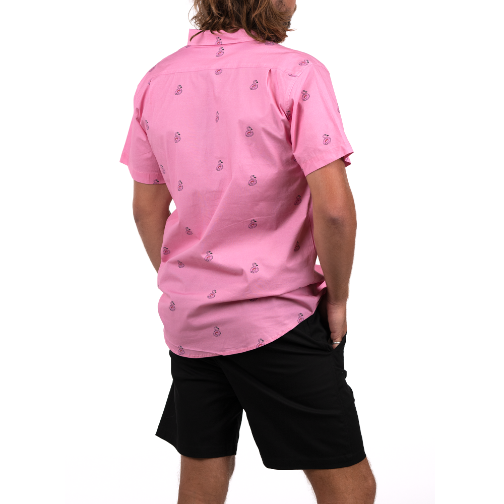 FLAMINGOH'S FULL BUTTON DOWN W/ FLEX
