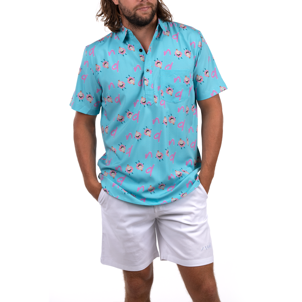 FLOATERS (BLOO) HALF BUTTON DOWN W/ STRETCH
