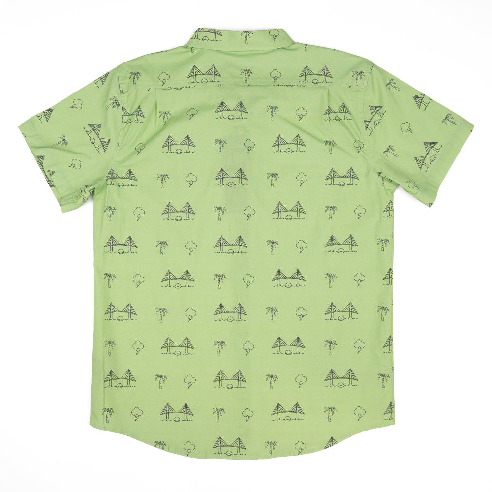 BAE AREA (GREEN) FULL BUTTON DOWN W/ FLEX