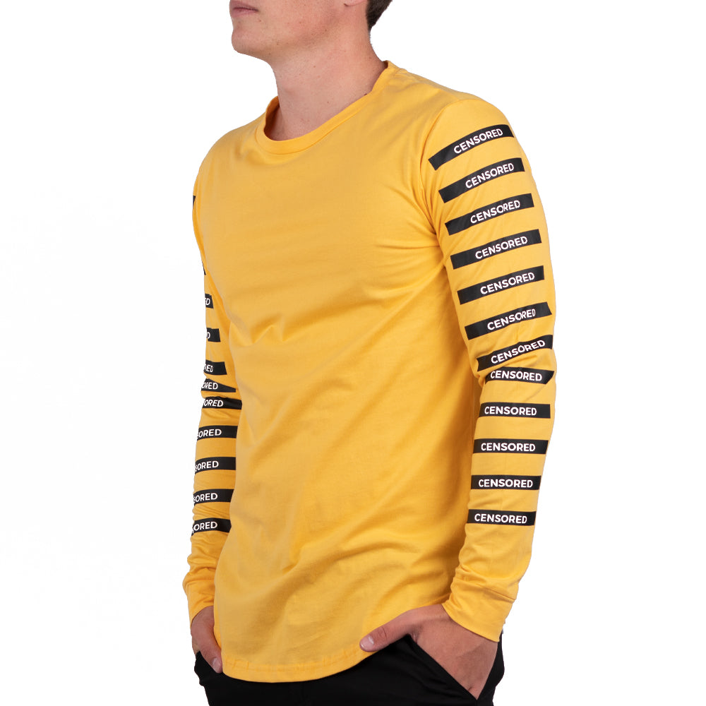 CENSORED BARS LONG SLEEVE YELLOW