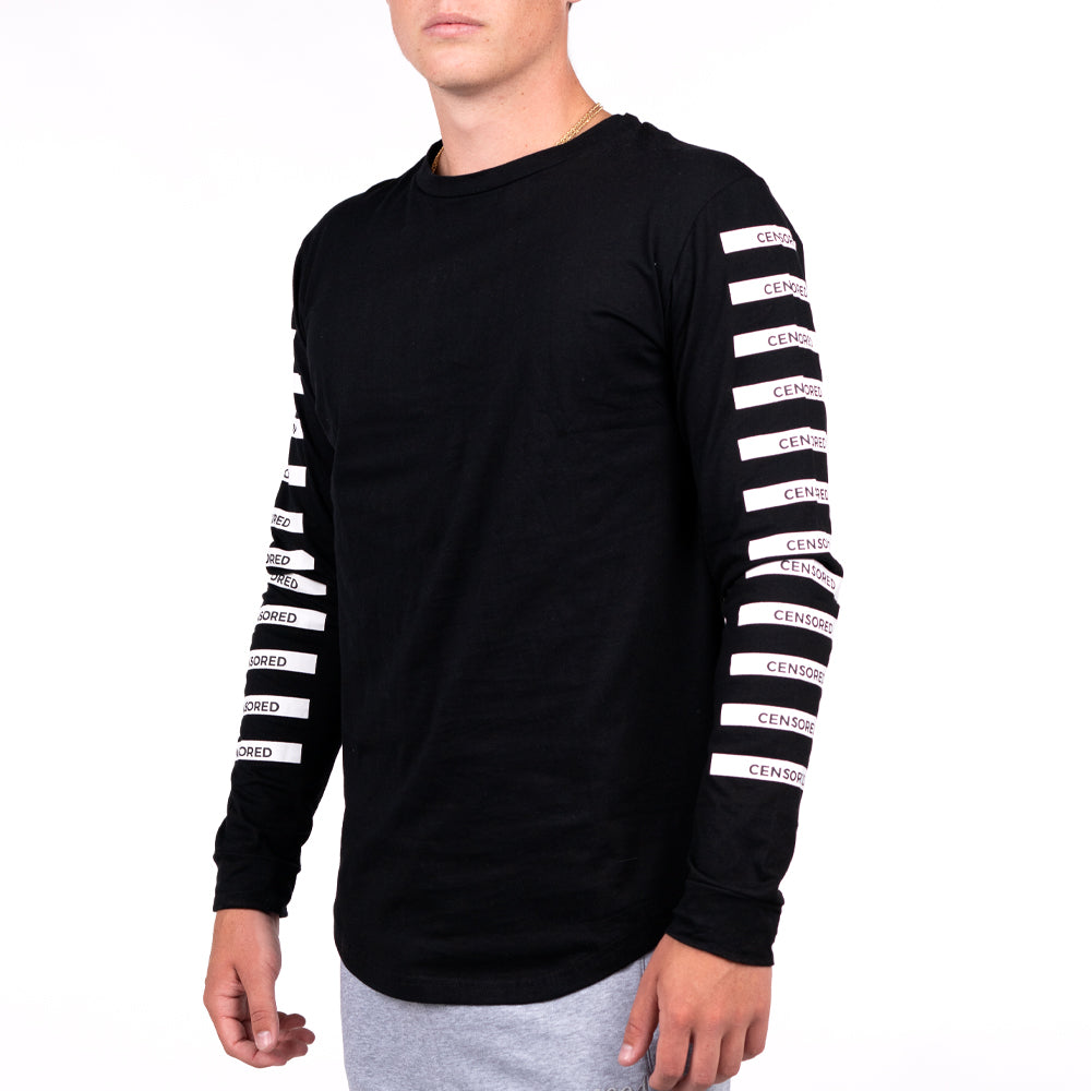 CENSORED BARS LONG SLEEVE BLACK