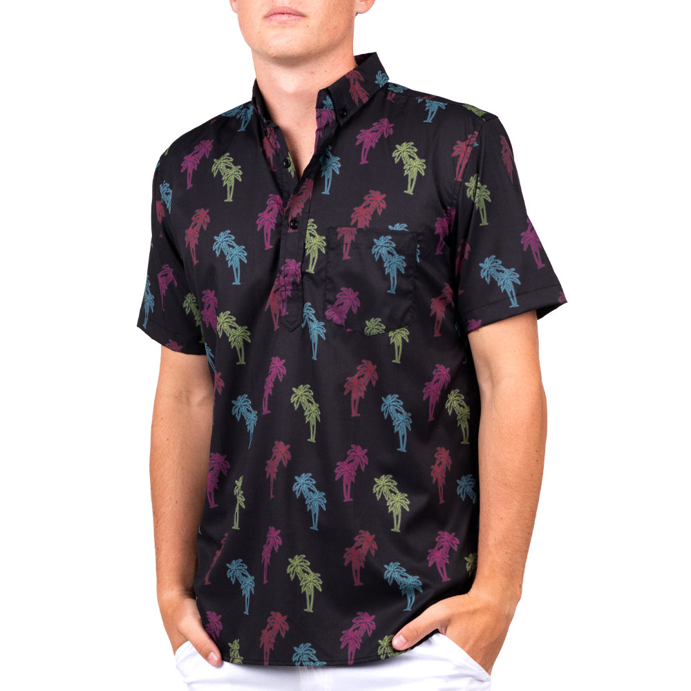 CHRONIC TROPIC HALF BUTTON DOWN W/ STRETCH