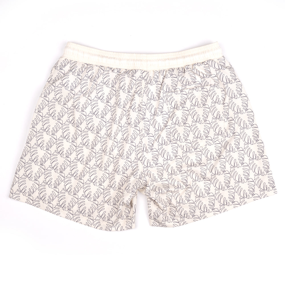 NIGHT NOODS (WHITE) SWIM TRUNKS