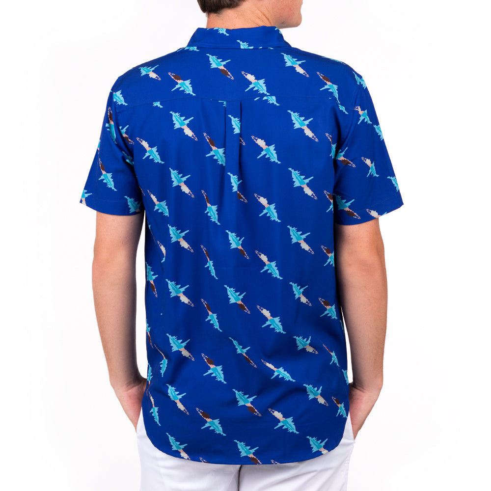 BLOO POOL NOODS HALF BUTTON DOWN W/ STRETCH