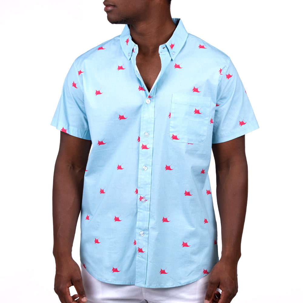 RAY DAY (BLOO) FULL BUTTON DOWN W/ FLEX