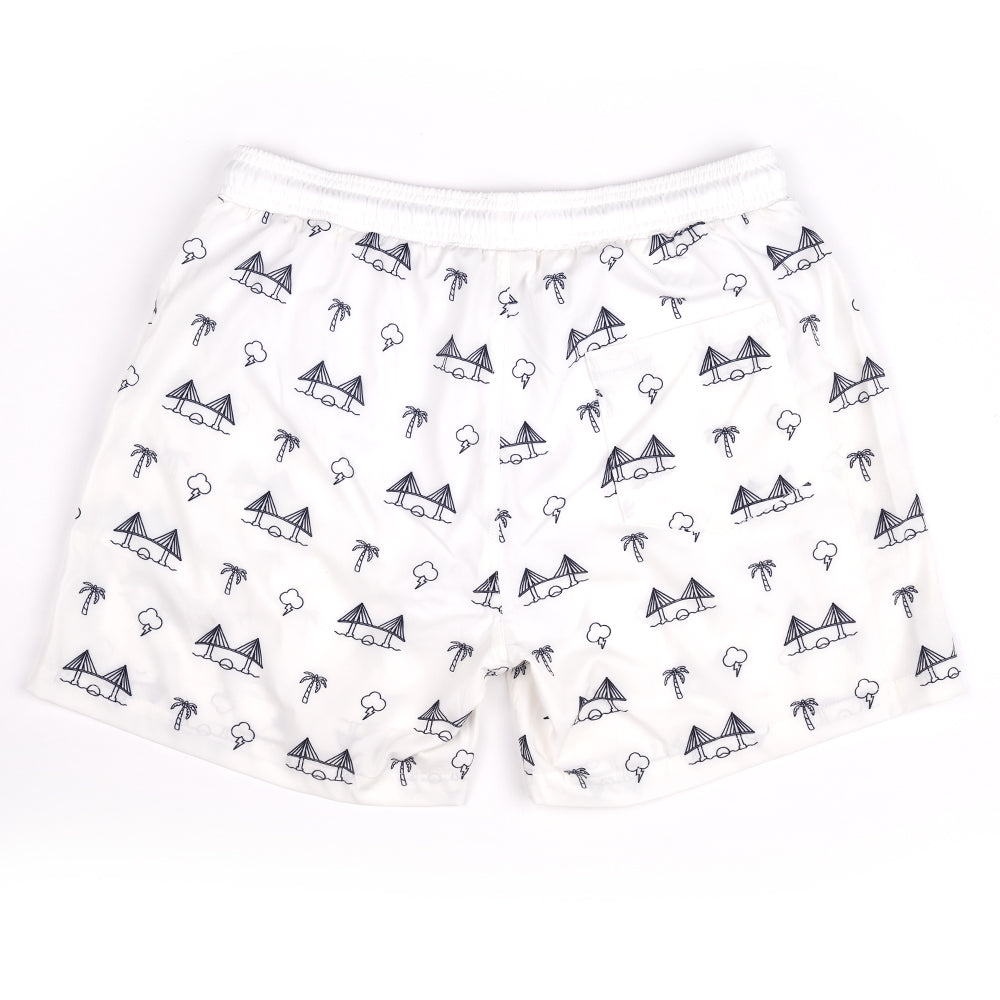 BAE AREA (WHITE) SWIM TRUNKS