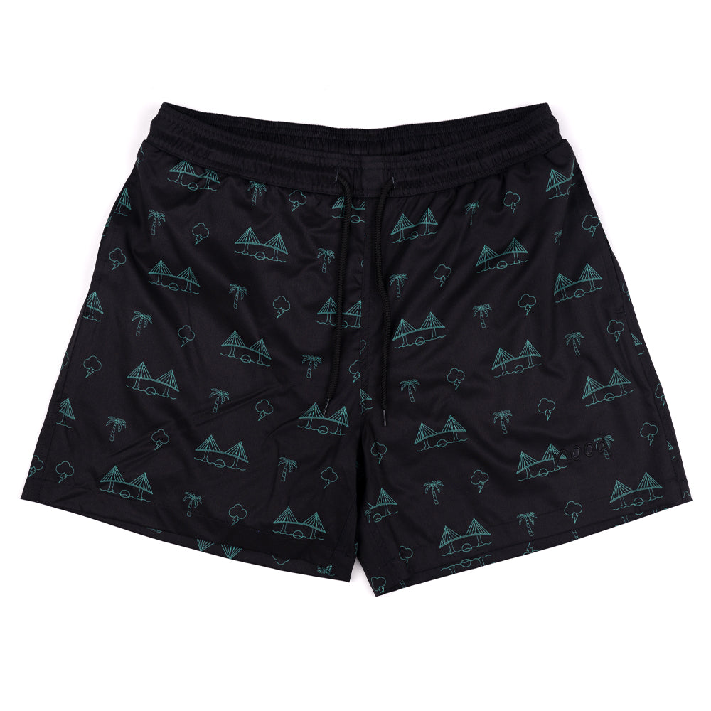 BAE AREA (BLACK) SWIM TRUNKS