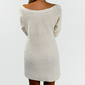 Cable Knit Sweater Dress - SOИDER BOUTIQUE