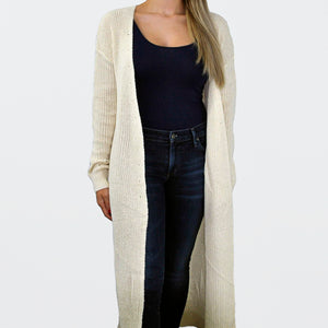 Long Chunky Knit Cardigan - SOИDER BOUTIQUE