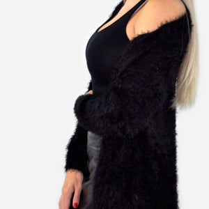 Furry Knit Cardigan - SOИDER BOUTIQUE
