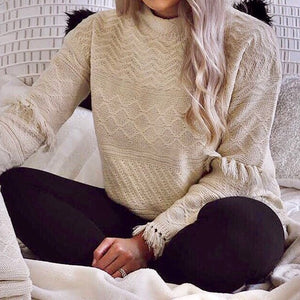 Tassel Chunky Knit Sweater - SOИDER BOUTIQUE